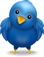 The blue twitter bird