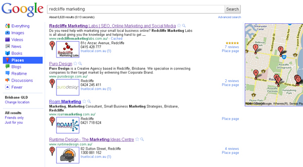 Redcliffe Marketing Search Results