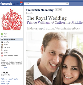 Official Facebook page for the Royal Family