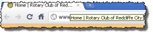 Showing Rotary Club Title text in browser tab
