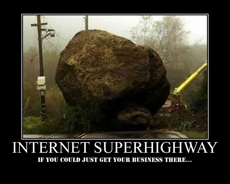 Online marketing is all about getting businesses on the information superhighway