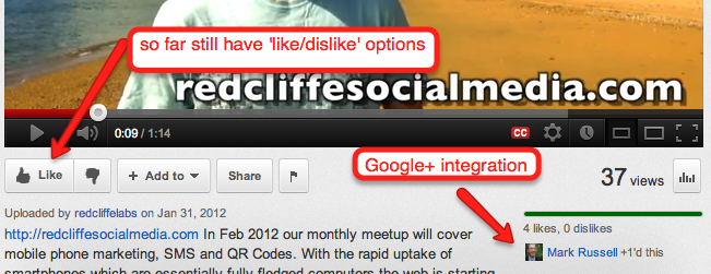 google plus social media to roll out youtube share function